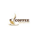 Logotipo del negocio del café del café Imágenes de archivo libres de regalías
