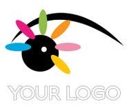 Logotipo del ojo Fotografía de archivo