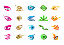 Logotipo del ojo, diseño del símbolo del concepto de la visión Imagen de archivo
