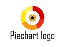 Logotipo del ojo del gráfico circular Imagen de archivo libre de regalías