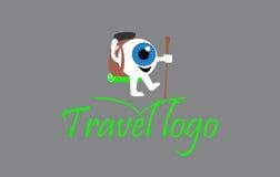 Logotipo del ojo que camina Imagen de archivo libre de regalías
