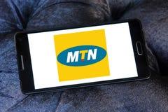 Logotipo del operador móvil de Mtn Imágenes de archivo libres de regalías