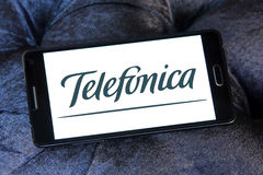 Logotipo del operador móvil de Telefonica Fotografía de archivo