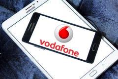 Logotipo del operador móvil de Vodafone Imagen de archivo
