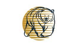 Logotipo del oso foto de archivo