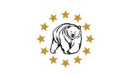 Logotipo del oso Fotos de archivo