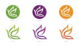 Logotipo del pájaro de la paloma ilustración del vector