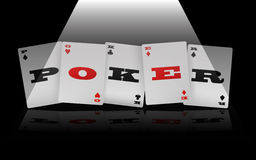 Logotipo del póker Foto de archivo
