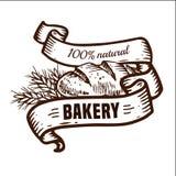 Logotipo del pan con las cintas Fotografía de archivo libre de regalías