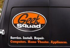 Logotipo del pelotón del friki en el vehículo Fotos de archivo