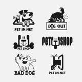 Logotipo del perro stock de ilustración