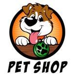 Logotipo del perro de la tienda de animales Fotos de archivo libres de regalías