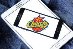 Logotipo del pollo de Churchs Imágenes de archivo libres de regalías