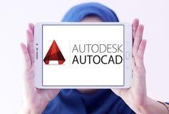 Logotipo del programa de AutoCAD Imágenes de archivo libres de regalías