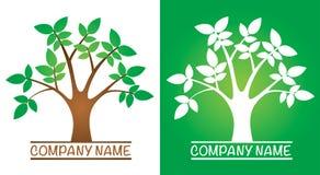 Logotipo del árbol Imágenes de archivo libres de regalías