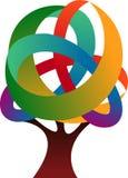 Logotipo del árbol Foto de archivo libre de regalías