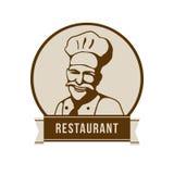 Logotipo del restaurante con la cara de un cocinero Foto de archivo