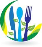 Logotipo del restaurante de la hoja stock de ilustración