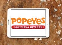 Logotipo del restaurante de los alimentos de preparación rápida de Popeyes Fotografía de archivo