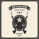 Logotipo del revólver Fotos de archivo