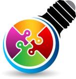Logotipo del rompecabezas de la lámpara libre illustration