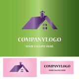 Logotipo del símbolo del tejado de la casa Stock de ilustración