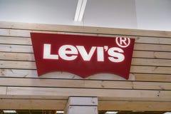 Logotipo del ` s de Levi fotografía de archivo libre de regalías