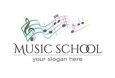 Logotipo del scool de la música foto de archivo