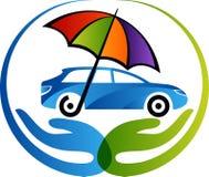 Logotipo del seguro de coche stock de ilustración