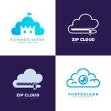 Logotipo del servicio de la nube Foto de archivo libre de regalías