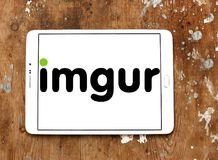 Logotipo del servicio de recibimiento de la imagen de Imgur Fotografía de archivo libre de regalías