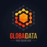 Logotipo del servidor de datos de la tecnología Fotos de archivo