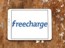 Logotipo del sitio web del comercio electrónico de FreeCharge Imagen de archivo