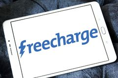Logotipo del sitio web del comercio electrónico de FreeCharge Imágenes de archivo libres de regalías