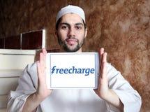 Logotipo del sitio web del comercio electrónico de FreeCharge Fotografía de archivo