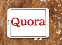 Logotipo del sitio web de los quórums Imágenes de archivo libres de regalías