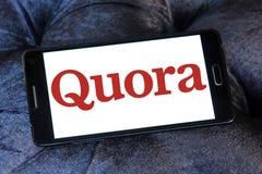 Logotipo del sitio web de los quórums Foto de archivo