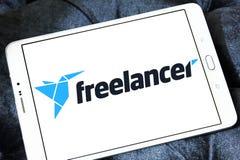 Logotipo del sitio web del mercado del Freelancer Imagen de archivo
