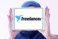 Logotipo del sitio web del mercado del Freelancer Imágenes de archivo libres de regalías
