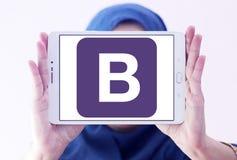 Logotipo del sitio web del tirante Imágenes de archivo libres de regalías