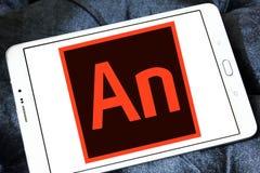 Logotipo del software de Adobe Animate fotos de archivo libres de regalías