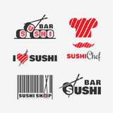 Logotipo del sushi Foto de archivo