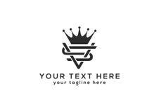 Logotipo del SV para su negocio Foto de archivo libre de regalías