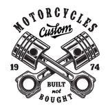 Logotipo del taller de la motocicleta del vintage Fotografía de archivo libre de regalías
