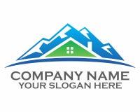 Logotipo del tejado de la montaña imagen de archivo libre de regalías