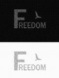 Logotipo del texto de la libertad Fotografía de archivo libre de regalías