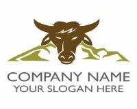 Logotipo del toro de la montaña Fotografía de archivo libre de regalías