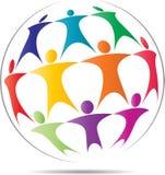 Logotipo del trabajo del equipo libre illustration