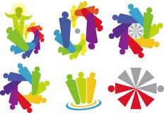 Logotipo del trabajo en equipo stock de ilustración