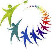 Logotipo del trabajo en equipo Fotos de archivo